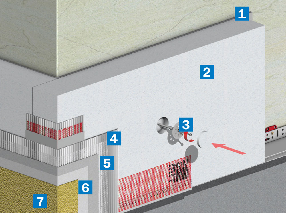 Σύστημα εξωτερικής θερμομόνωσης - θερμοπρόσοψης Baumit